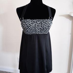 Jaclyn Smith 1pc Dress Swimsuit 10